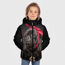 Куртка зимняя для мальчика Money Mops цвета 3D-черный — фото 2