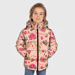 Куртка зимняя для мальчика Медвежата цвета 3D-черный — фото 2