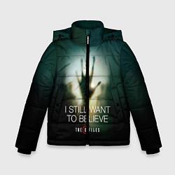 Куртка зимняя для мальчика X-files: Alien hand цвета 3D-черный — фото 1