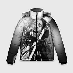 Куртка зимняя для мальчика Боб Марли поет цвета 3D-черный — фото 1