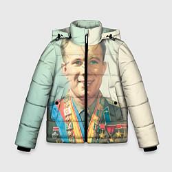 Куртка зимняя для мальчика Гагарин в орденах - фото 1