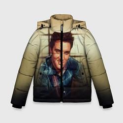 Куртка зимняя для мальчика Элвис Пресли цвета 3D-черный — фото 1