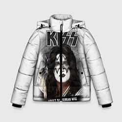 Куртка зимняя для мальчика KISS: Adult spaceman wig цвета 3D-черный — фото 1