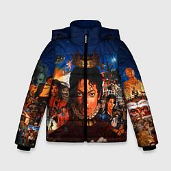 Куртка зимняя для мальчика Michael Jackson: Pop King цвета 3D-черный — фото 1