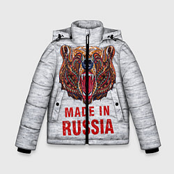 Куртка зимняя для мальчика Bear: Made in Russia цвета 3D-черный — фото 1