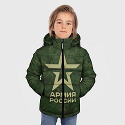Куртка зимняя для мальчика Армия России цвета 3D-черный — фото 2