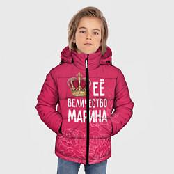 Куртка зимняя для мальчика Её величество Марина цвета 3D-черный — фото 2