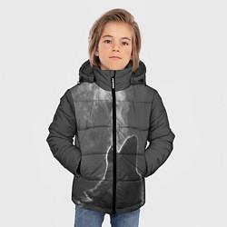Куртка зимняя для мальчика Воющий волк цвета 3D-черный — фото 2