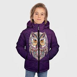 Детская зимняя куртка для мальчика с принтом Расписная сова, цвет: 3D-черный, артикул: 10086919706063 — фото 2
