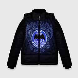 Куртка зимняя для мальчика Военная разведка цвета 3D-черный — фото 1