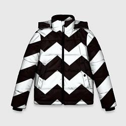 Куртка зимняя для мальчика Полосы цвета 3D-черный — фото 1