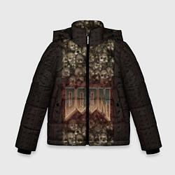 Куртка зимняя для мальчика DOOM Skulls цвета 3D-черный — фото 1
