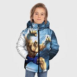 Куртка зимняя для мальчика Muay Thai Rage цвета 3D-черный — фото 2