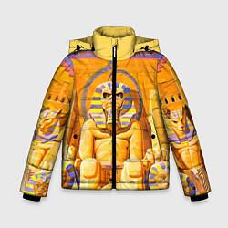 Детская зимняя куртка для мальчика с принтом Iron Maiden: Pharaon, цвет: 3D-черный, артикул: 10089880106063 — фото 1