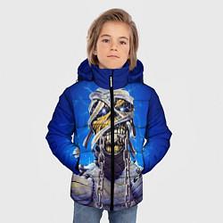 Детская зимняя куртка для мальчика с принтом Iron Maiden: Mummy, цвет: 3D-черный, артикул: 10089881606063 — фото 2