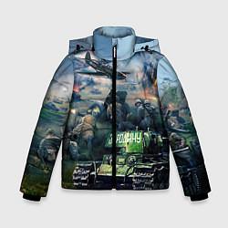 Куртка зимняя для мальчика За родину цвета 3D-черный — фото 1