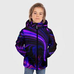 Куртка зимняя для мальчика Цветные разводы цвета 3D-черный — фото 2