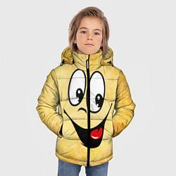 Куртка зимняя для мальчика Заразительная улыбка цвета 3D-черный — фото 2