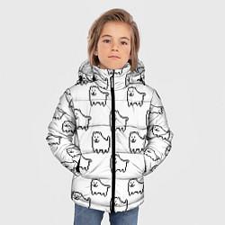 Куртка зимняя для мальчика Undertale Annoying dog white цвета 3D-черный — фото 2
