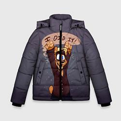 Куртка зимняя для мальчика Five Nights: I Did It цвета 3D-черный — фото 1
