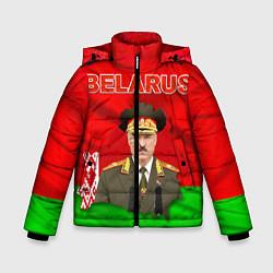Куртка зимняя для мальчика Belarus: Lukashenko цвета 3D-черный — фото 1