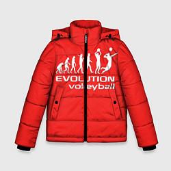 Куртка зимняя для мальчика Волейбол 23 цвета 3D-черный — фото 1