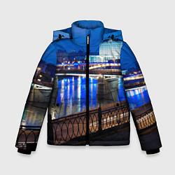 Детская зимняя куртка для мальчика с принтом Москва, цвет: 3D-черный, артикул: 10095926006063 — фото 1