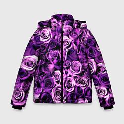 Куртка зимняя для мальчика Цветочки цвета 3D-черный — фото 1