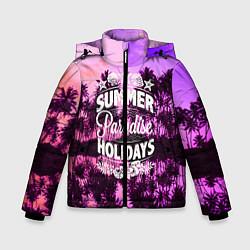 Детская зимняя куртка для мальчика с принтом Hawaii dream 2, цвет: 3D-черный, артикул: 10096438106063 — фото 1