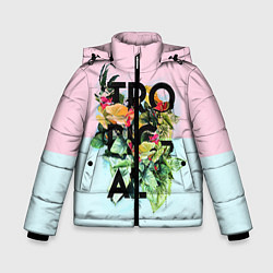 Куртка зимняя для мальчика Tropical Art цвета 3D-черный — фото 1