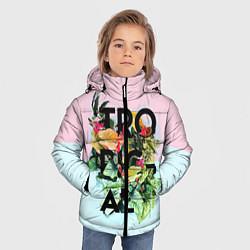 Детская зимняя куртка для мальчика с принтом Tropical Art, цвет: 3D-черный, артикул: 10096481906063 — фото 2