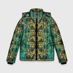 Куртка зимняя для мальчика Крокодил цвета 3D-черный — фото 1