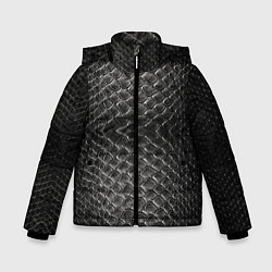 Куртка зимняя для мальчика Черная кожа - фото 1