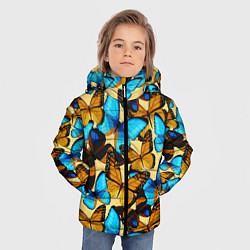 Куртка зимняя для мальчика Бабочки цвета 3D-черный — фото 2