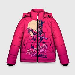 Куртка зимняя для мальчика So we are actually doing this? цвета 3D-черный — фото 1
