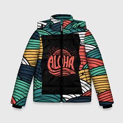 Детская зимняя куртка для мальчика с принтом Алоха, цвет: 3D-черный, артикул: 10098336506063 — фото 1