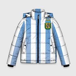 Куртка зимняя для мальчика Сборная Аргентины: ЧМ-2018 цвета 3D-черный — фото 1