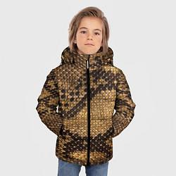 Куртка зимняя для мальчика Змеиная кожа цвета 3D-черный — фото 2