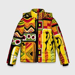 Куртка зимняя для мальчика Африка цвета 3D-черный — фото 1