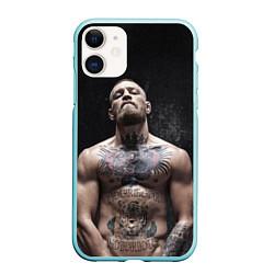 Чехол iPhone 11 матовый Конор Макгрегор цвета 3D-мятный — фото 1
