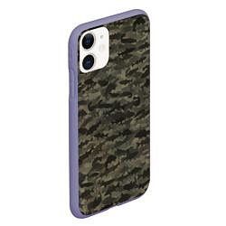 Чехол iPhone 11 матовый Камуфляж рыбака цвета 3D-серый — фото 2