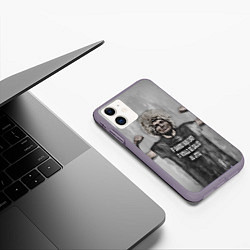 Чехол iPhone 11 матовый Нурмагомедов Хабиб цвета 3D-серый — фото 2
