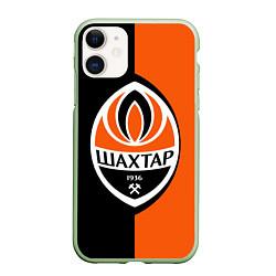 Чехол iPhone 11 матовый ФК Шахтер Донецк цвета 3D-салатовый — фото 1