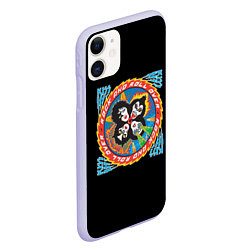 Чехол iPhone 11 матовый KISS: Over цвета 3D-светло-сиреневый — фото 2