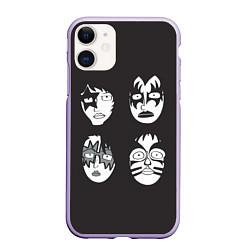 Чехол iPhone 11 матовый KISS Mask цвета 3D-светло-сиреневый — фото 1