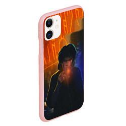 Чехол iPhone 11 матовый Виктор Цой в ночи цвета 3D-баблгам — фото 2