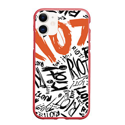 Чехол iPhone 11 матовый Paramore: Riot цвета 3D-красный — фото 1