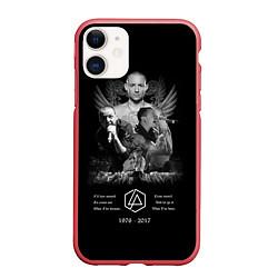 Чехол iPhone 11 матовый Bennington Memories цвета 3D-красный — фото 1