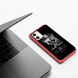 Чехол iPhone 11 матовый Bennington Memories цвета 3D-красный — фото 2