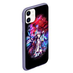 Чехол iPhone 11 матовый No Game No Life Zero цвета 3D-серый — фото 2